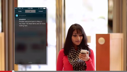 Click on the video to see how iBeacon works in Macy's department store