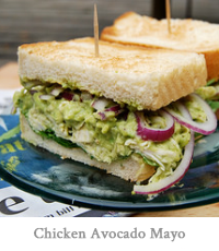 Chicken Avocado Mayo Sandwich