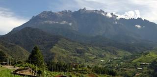 Mount Kinabalu view from Kundasan