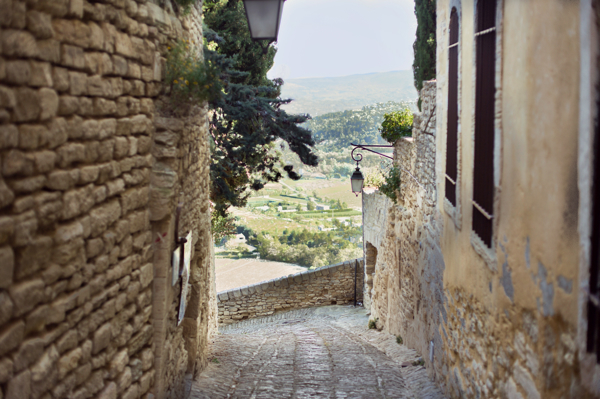Looking out of Gordes