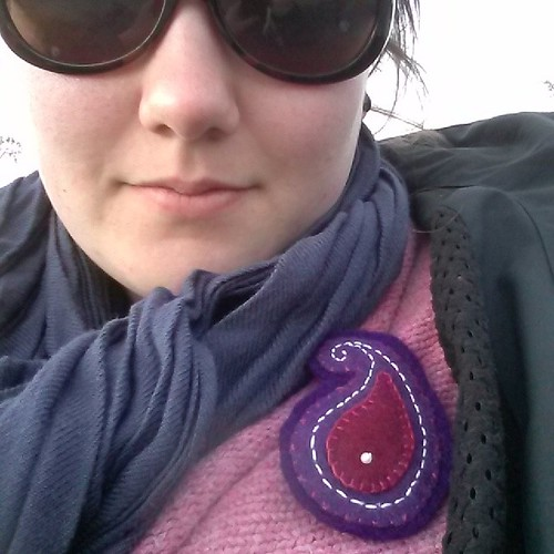 #mmmay14 Day 4: Rocket launch chic with paisley brooch