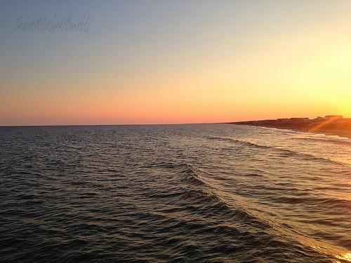 ocean sunset summer sun beach landscape nc sand scenery waves scenic northcarolina holdenbeach landscapephotography holdenbeachnc