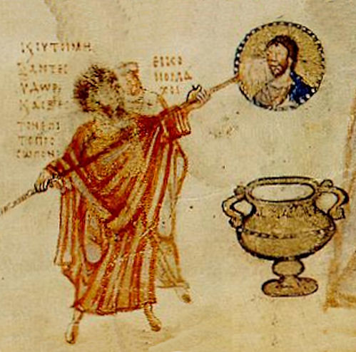 Byzantine Iconoclasm depicted in Chludov Psalter