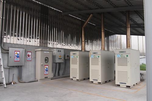 中央畜牧場三座沼氣發電機組