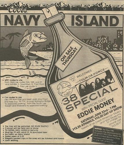 06/23/84 .38 Special/ Eddie Money @ Navy Island, St. Paul, MN