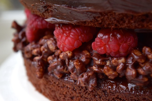 Chocolate Cake Rice Krispie Layer Filling
