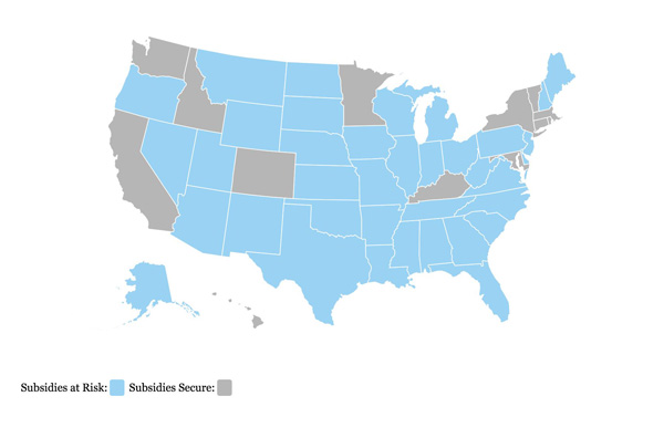 King v. Burwell Subsidy Map