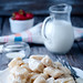 lazy pierogi. cottage cheese dumplings with sour cream