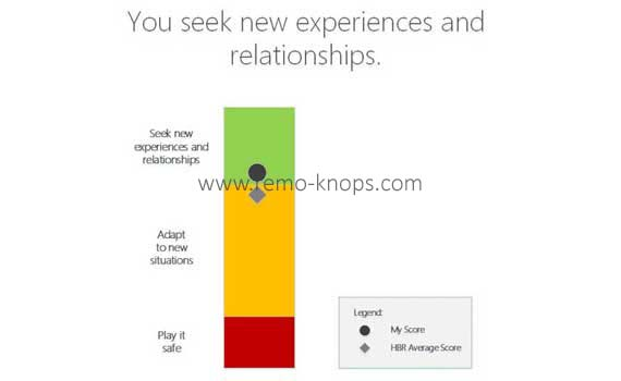 Seek new Experiences - Curiosity Profile Assessment Results Add description