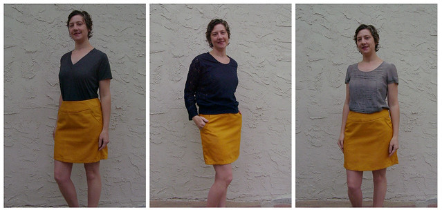Goldenrod Skirt collage