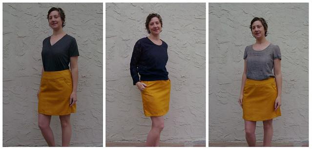 Goldenrod Skirt collage