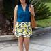 leomon print skort, teal blouse, jeweled sandals-3.jpg