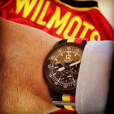 Tonight Belgium will play the Euro Cup 2016 to get to semi-final. ____________________________________  Thanks to Mathieu for this shot, his gear for tonight, a Gavox Curtiss with out personalized Belgian NATO strap and old shirt of Marc Wilmots when his