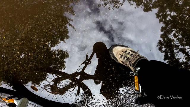 Riding the puddles