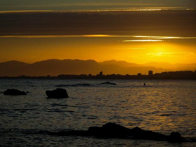 TABARCA Sunset over Santa Pola