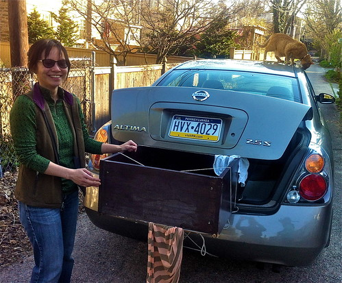 Picks up a boocase courtesy of NWPhillyFreecycle