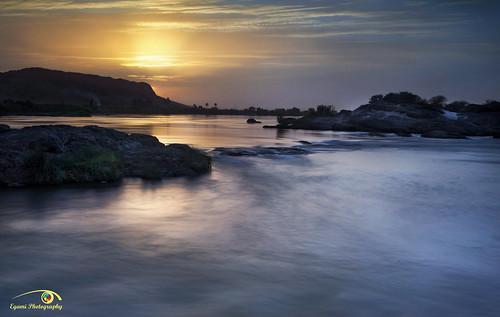 longexposure sunset landscape sudan rivers khartoum nileriver sabalogacataract mohamedegami egamiphotography sixcataract