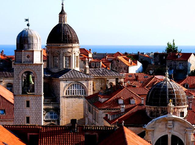Tejados del casco antiguo de Dubrovnik, Croacia
