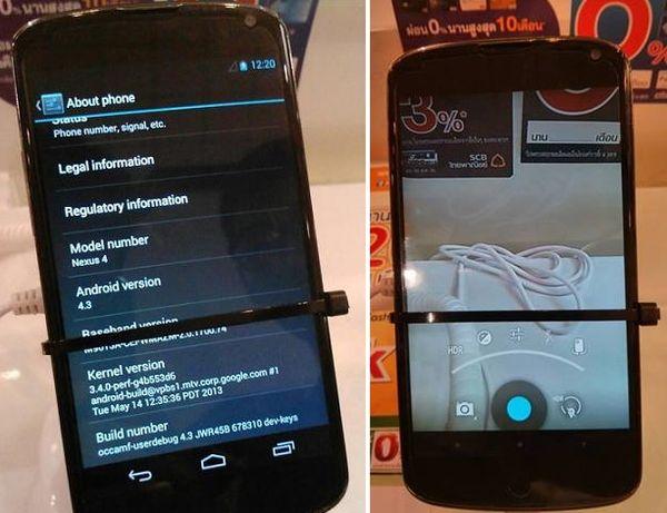 Android 4.3 на Nexus 4