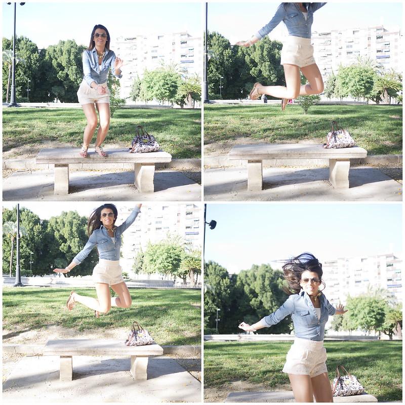 collage saltando