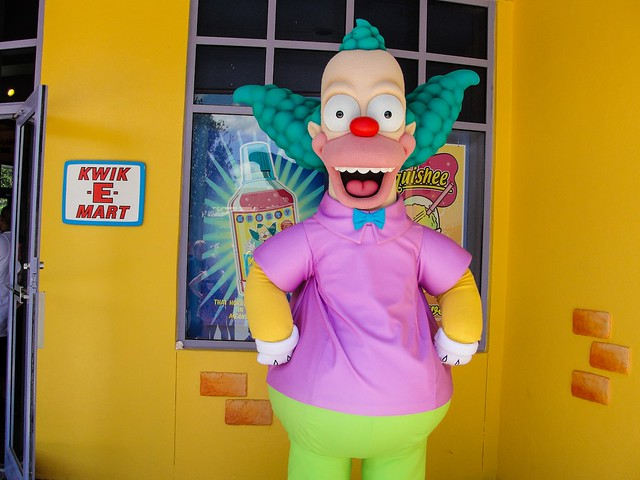 Krusty the Clown at Universal Orlando