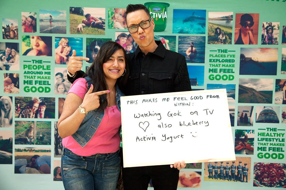 The Activia Gok Wan event