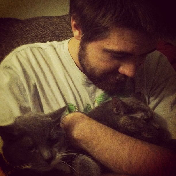 Day 15 - Love. My son and kittens. Love Love Love. #theboy #lily #vivian #iggppc30d2 #love