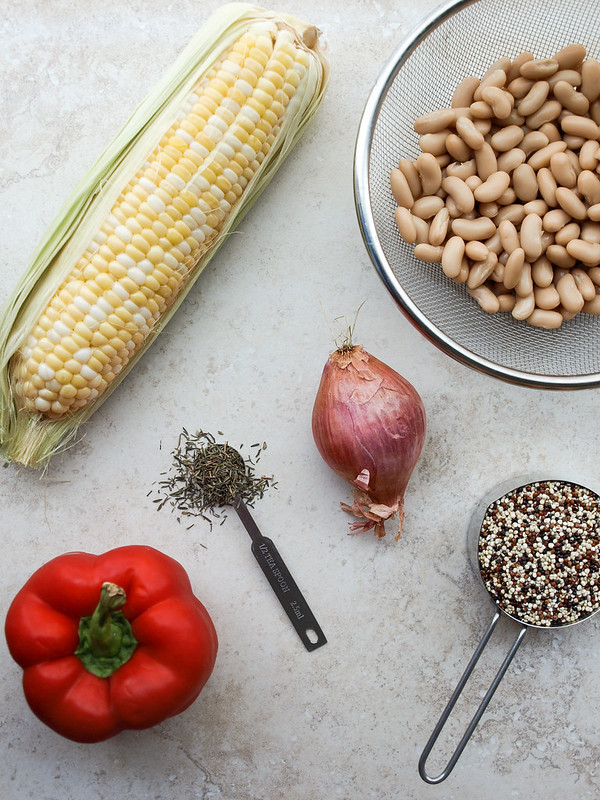 Quinoa & White Bean Veggie Burgers Ingredients