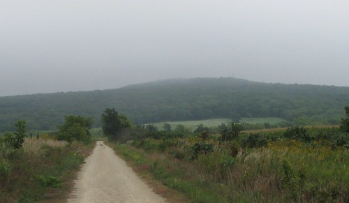 Blue Mound in mist, 9/8/2013