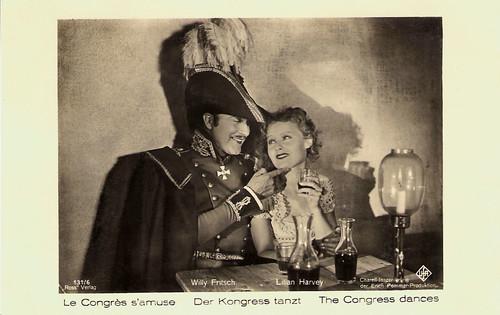 Lilian Harvey and Willy Fritsch in Der Kongress tanzt