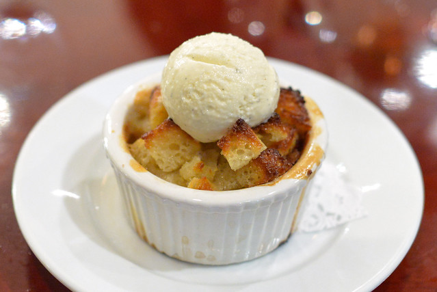 Chocolate Bread Pudding TCHO, ramekin baked bread, tahitian vanilla bean ice cream