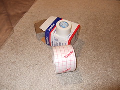 Hypafix dressing rentention sheets and medical tape