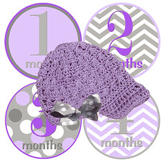 celebrate every month of your new baby with mumsy goose :: monthly newborn sticker & hat sets :: review