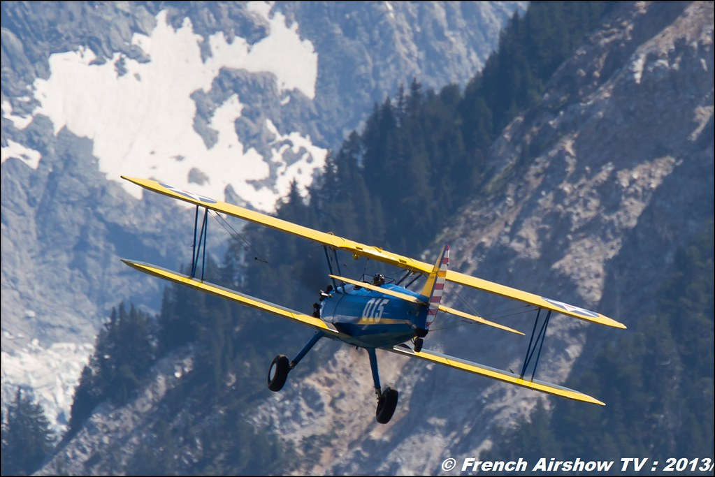 Stearman Roanne, Stearman.fr,Fete de l'air,Courchevel Saut à Ski 2013