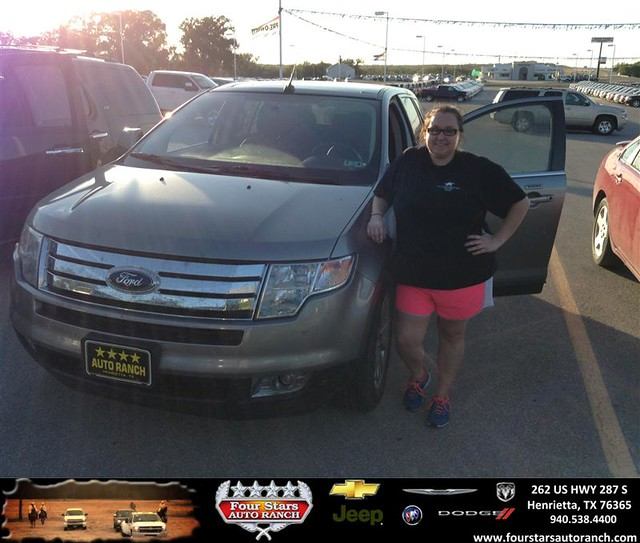 thank you to elizabeth pope on your new 2008 ford edge from dewayne aylor and everyone at four. Black Bedroom Furniture Sets. Home Design Ideas