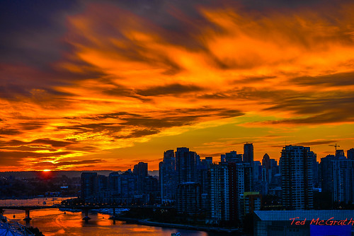 sunset sky orange vancouver falsecreek orangesky vancouverbc cans2s falsecreekeast tedsphotos mygearandme blinkagain