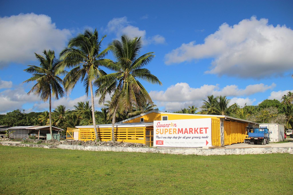 Swanson Supermarket, the only one on the island