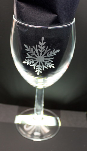 Christmas Wine Glass Front