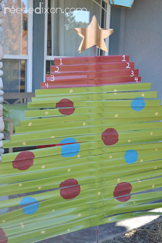 Christmas Craft Outdoor Advent Calendar Reese Dixon