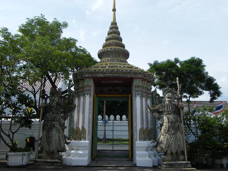 Guerreros chinos piedra, wat pho, Bangkok