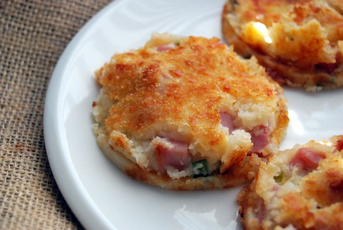 Ham and Cheddar Mashed Potato Patties-001