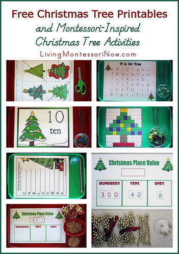 Free Christmas Tree Printables and Montessori-Inspired Christmas Tree Activities