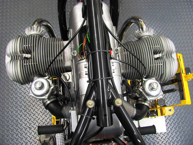 From the Saddle View of Carburetor with Cables Installed