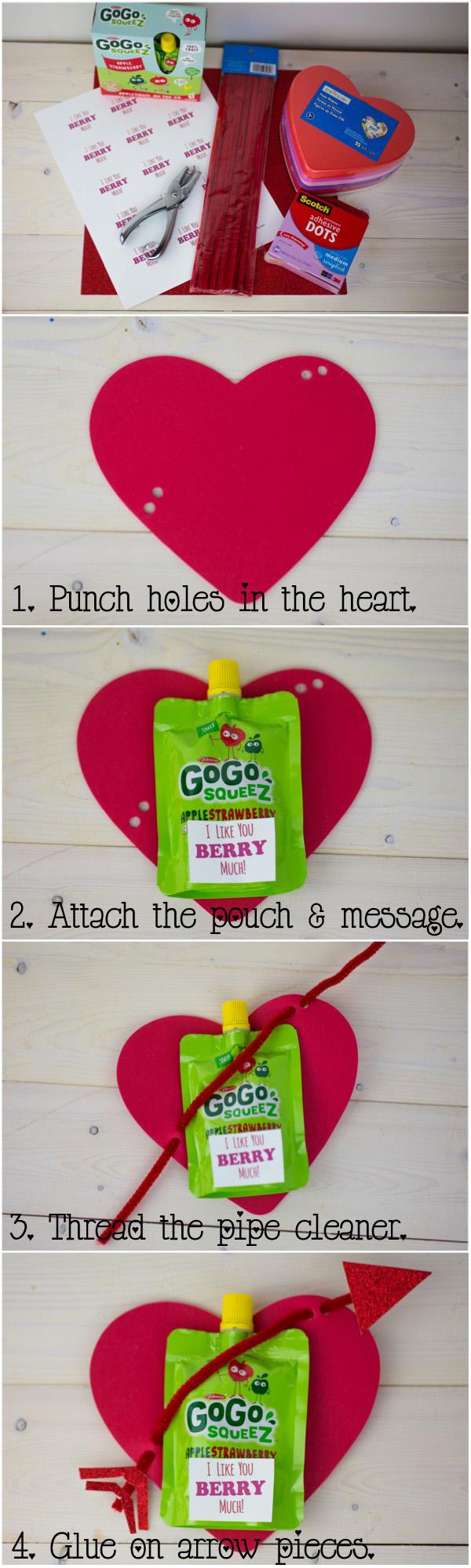 GoGo squeez Valentine Directions