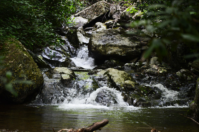 Waterfalls on Cabin Creek  at Grayson Highlands State Park