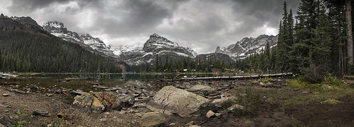 mountain lake snow mountains nature clouds landscape rockies day cloudy rocky overcast canadian ohara bun yoho yohonationalpark bunlee bunleephotography
