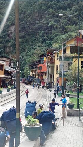 잉카 트레일의 포터들