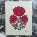 """RUBY RED ROSE"" Woodcut Print by Tugboat Printshop by Tugboat Printshop"