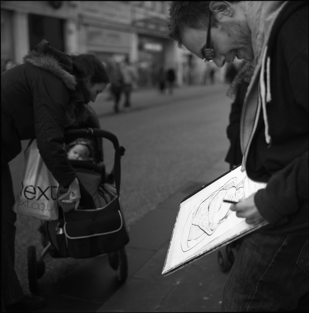 A Street Sitting | The Lunchtime Portraits