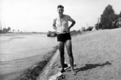 1941 - Tom Beazley's mate Hunter Sparks at Suez Canal, El Kantara, Egypt